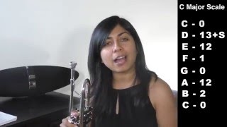 How to Play C Major (Bb concert) scale on the trumpet (HD-1080p) | Trumpet Headquarters