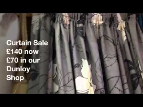 Sale 50% off Grey and Cream Curtain
