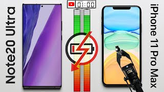 Note 20 Ultra vs. iPhone 11 Pro Max Battery Test