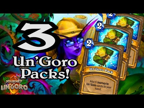 🍀🎲 3 Un'Goro Packs in One Game ~ Journey to Un'Goro ~ Hearthstone Heroes of Warcraft