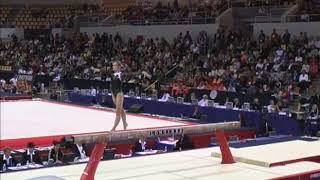 Iryna Krasnyanska (UKR) Balance Beam Team Qualifications 2006 Aarhus World Championships