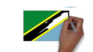 How to draw Tanzania Flag