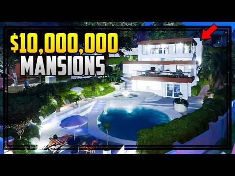 $10,000,000 MANSIONS IN GTA 5! (GTA V Mods)