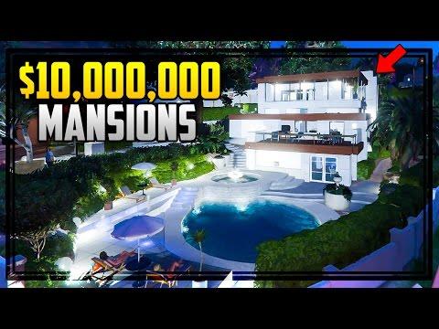 $10,000,000 MANSIONS IN GTA 5! (GTA V Mods)