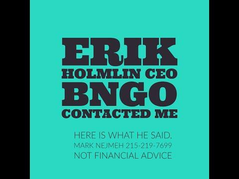 BNGO Eric Holmlin Bianano Genomics