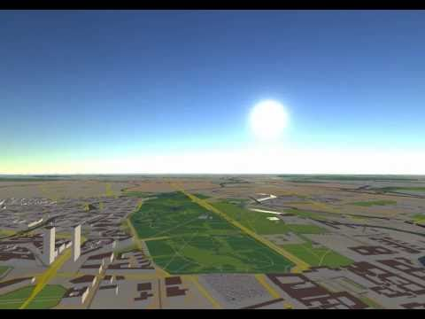Realtime Atmospheric Scattering in OpenStreetMap 3D Virtual Globe
