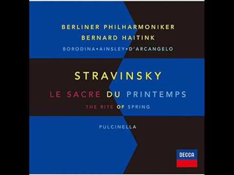 ストラヴィンスキー:バレエ音楽「プルチネルラ」(1965年改訂版):ハイティンク/ベルリン・フィル