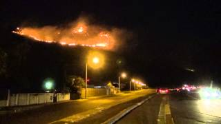 Cape Town Fire 2015 Night of March 1st.  9:30 PM