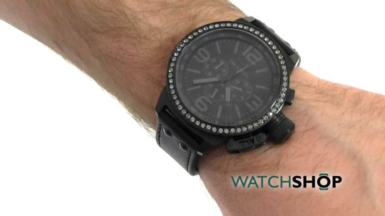 23098e25b2d Men s TW Steel Cool Black Crystal 50 Chronograph 50mm Watch (TW0913) -  YouTube