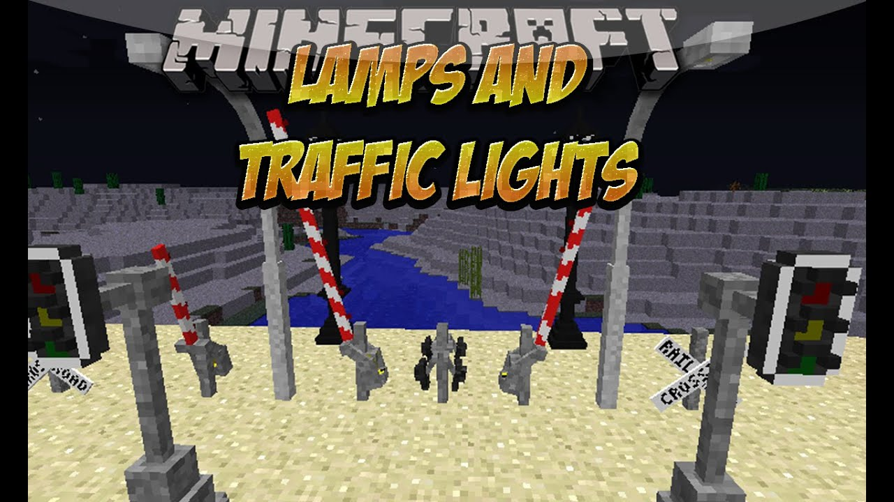 Minecraft Wall Light Mod : Lamps And Traffic Lights MOD (LAMPARAS Y SEMaFOROS EN MINECRAFT) Espanol Minecraft 1.8/1.7.10 ...