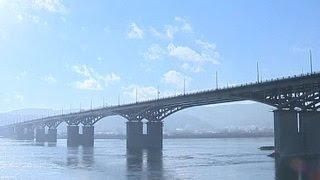 видео Мост через Енисей в Красноярске