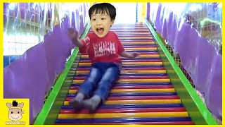 Indoor Playground Learn Colors Fun for Family Kids Play Slide Rainbow Colors Ball | MariAndKids Toys