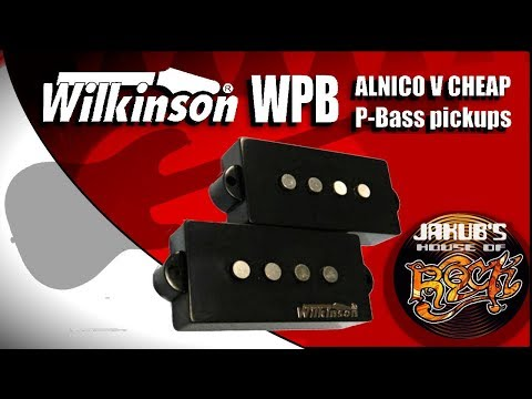 Wilkinson WPB: ALNICO 5 P-bass pickups REVIEW / DEMO