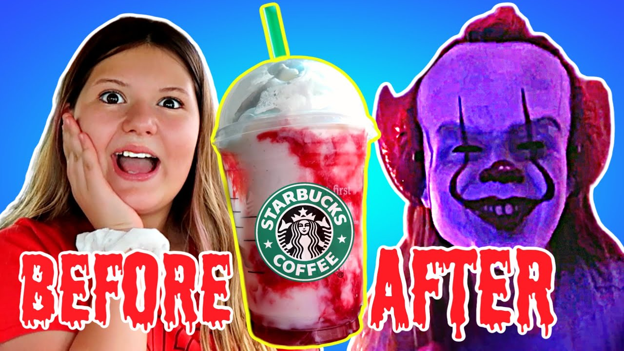 DON'T TRY THE IT FRAPPUCCINO FROM STARBUCKS! ~ Very Scary Skit!