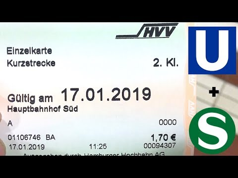 How to use the U-bahn and S-Bahn in Hamburg, Germany
