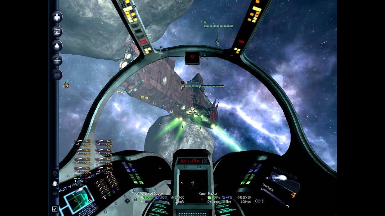 X3 Terran Conflict Atacking a Xenon Ship - YouTube