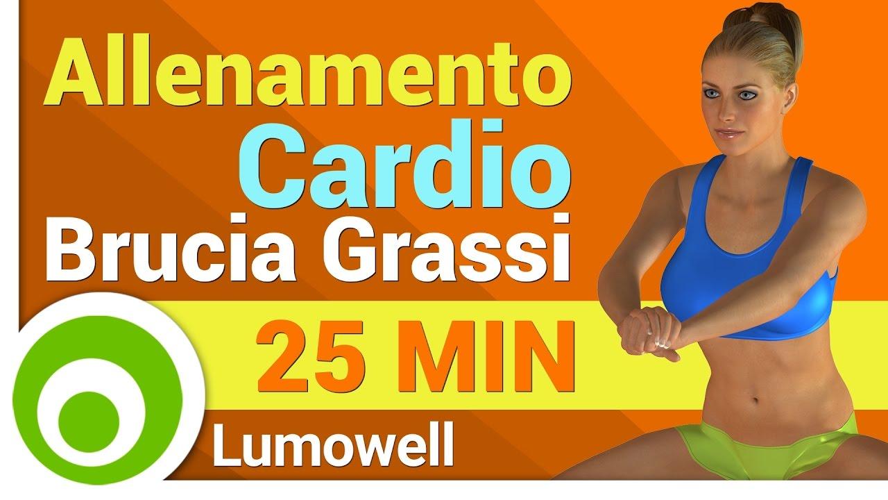 allenamento cardio brucia grassi della pancia