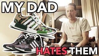 my dad hates the bape nmds