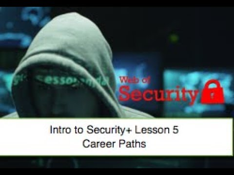 Free Security+ Training Series: Lesson 5 - Career Paths and Options for Security+  Professionals