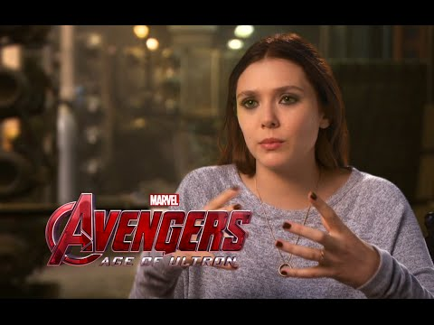 Elizabeth Olsen Interview - Avengers: Age of Ultron (2015) Scarlet Witch  Marvel Movie