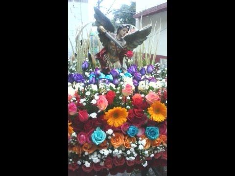 Procesión de San Miguel Arcangel en Lidice Caracas Venezuela  02 10 2016  parte 1