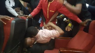 CHAOS IN COURT AS DSS STRANGLES SOWORE IN ATTEMPT TO RE ARREST HIM