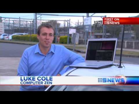 Computer Zen Channel Nine News Brisbane Wifi Security Hacking 2012 1