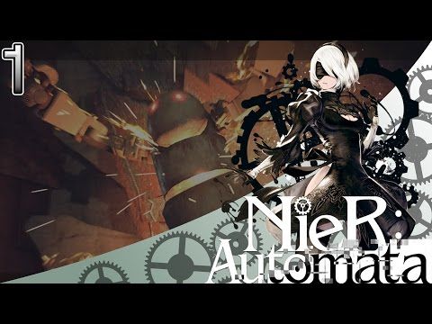 NieR: Automata! Part 1: Cyborg woman gets fisted by angry robot