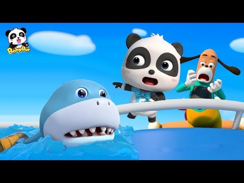 Baby Shark's Chasing Baby Panda | Super Panda Rescue Team | Kids Pretend Play | BabyBus Song