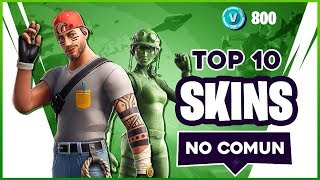 🏆 THE 10 BEST SKINS *LITTLE COMUN* in Fortnite (Green Skins)