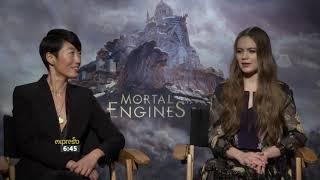 Mortal Engine Junket Hera Hilmar & Jihae Kim