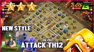 Clash of Clans⭐3-STAR TH12⭐NEW STYLE ATTCK GROUND SKILL AFTER UPDATE TH12⭐