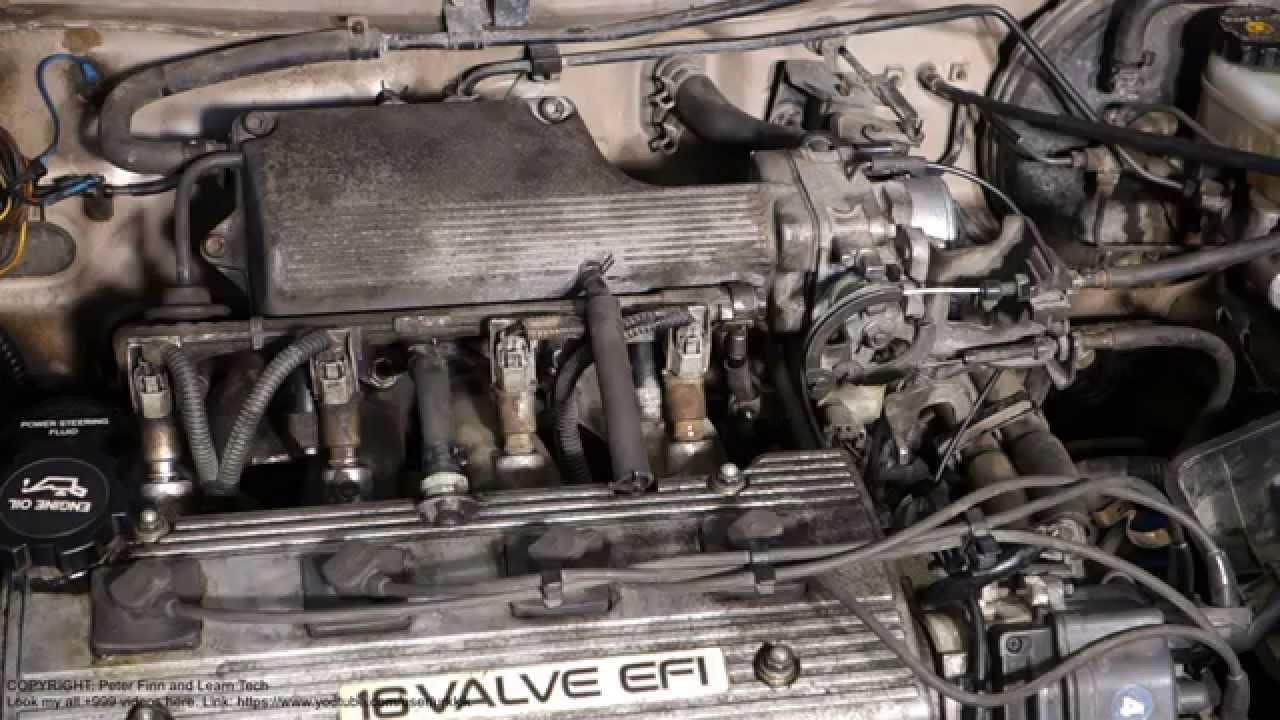 How to test fuel pump pressure Toyota Corolla Years 1991 to 2002  YouTube