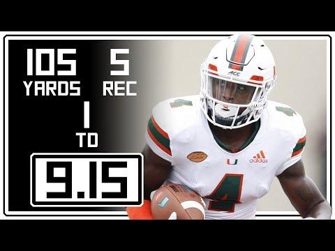 Jeff Thomas Full Highlights Miami vs Toledo || 9.15.18 || 5 Rec, 105 Yards, 1 TD