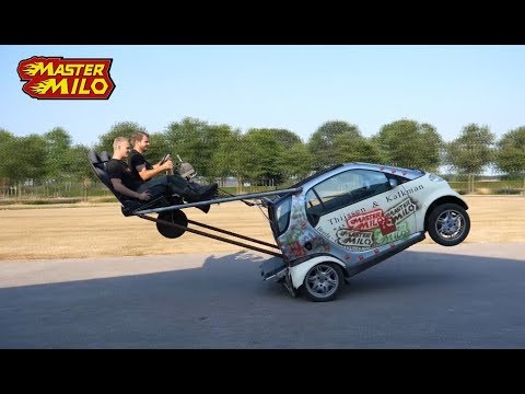 Smart wheelie car! WHEEL falls off!!!