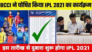 IPL 2021 Schedule, Restarting Date | Vivo IPL 2021 Remaining 31 Matches Schedule