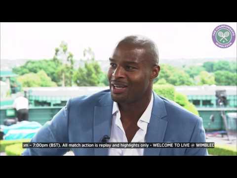 Two-time Super Bowl winner Osi Umenyiora visits Wimbledon