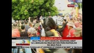 Video BT: Mga pro at anti-Marcos, nagpang-abot sa Libingan ng mga Bayani pero napigilan ng mga pulis download MP3, 3GP, MP4, WEBM, AVI, FLV September 2018