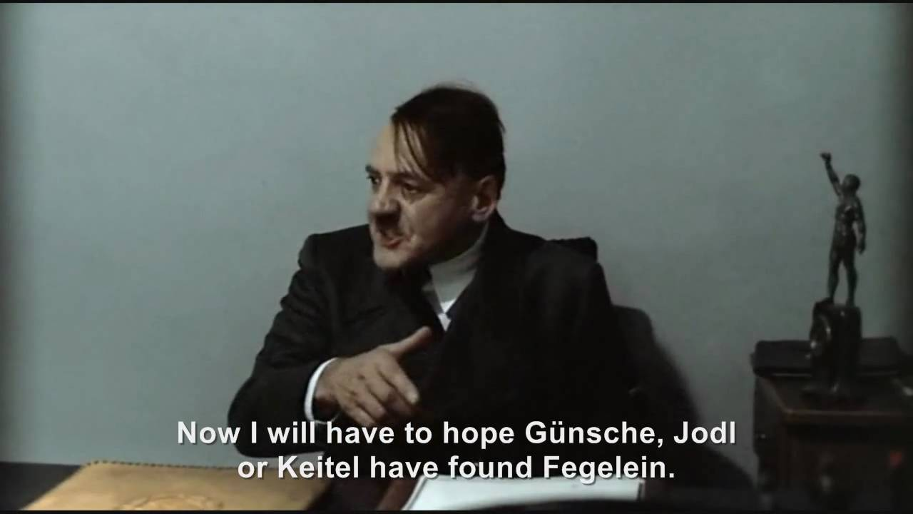 Hitler is informed Grawitz, Günsche, Jodl and Keitel failed to find Fegelein
