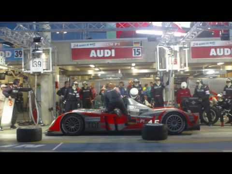 Kolles Audi R10 TDI #15 Pit Stop at 2010 24 Hours of Le Mans