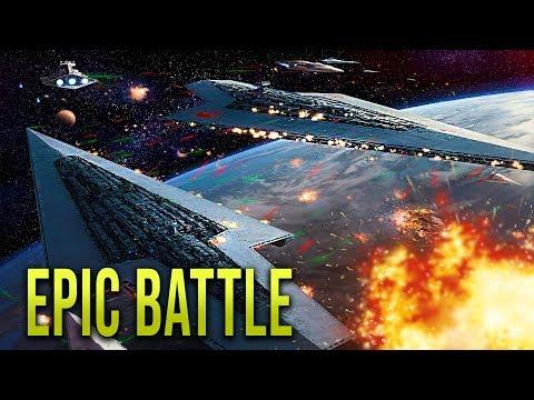 NEW REPUBLIC FLEET vs SITH EMPIRE! - STAR WARS Empire at War [Yoden Mod]