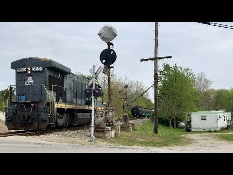 Second Train Of Year On Rusty Rails, Norfolk Southern Branch Line!