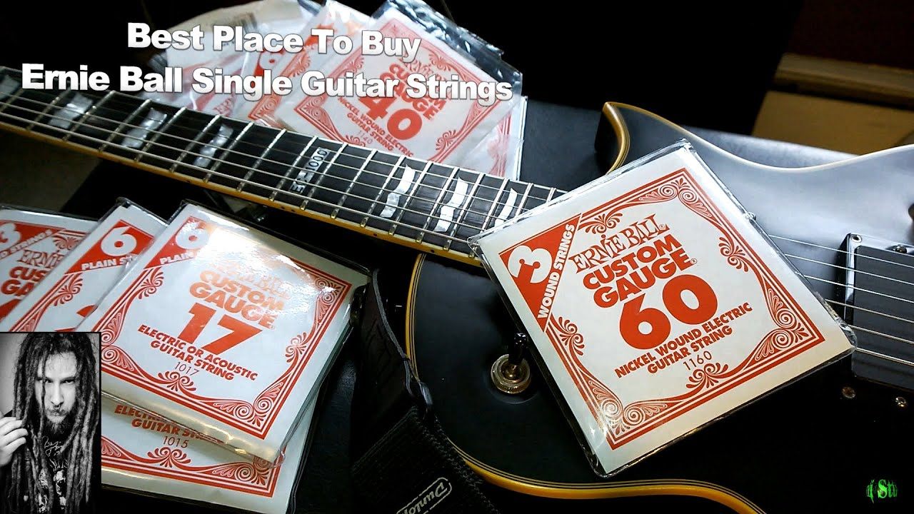 where i buy guitar strings single ernie ball strings youtube. Black Bedroom Furniture Sets. Home Design Ideas