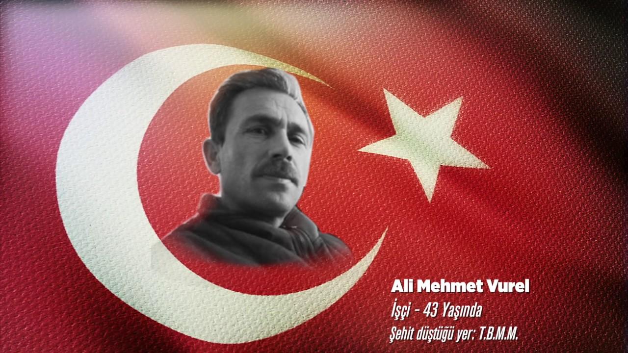 15 Temmuz Şehidi Ali Mehmet Vurel
