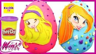 Winx Stella ve Winx Bloom Dev Sürpriz Yumurta Oyun Hamuru Play Doh - Evcilik TV