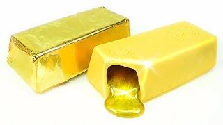 DIY Liquid Gold Bar Chocolate ! Deco Items Ideas | MonsterKids