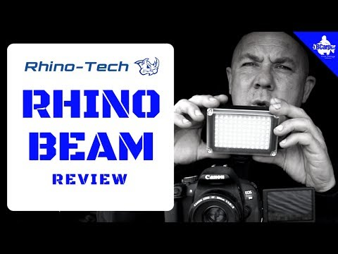 DSLR ACCESSORIES THE LED RHINO BEAM CAMERA LIGHT REVIEW