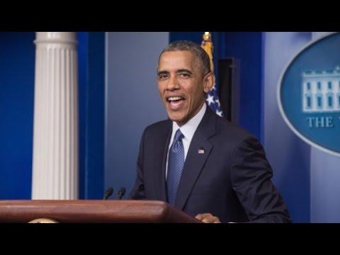 Obama touts economic record