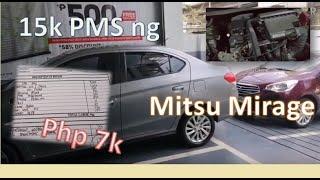 Mirage 15K km PMS  #Mitsubishi  #MirageG4  #15KPMS
