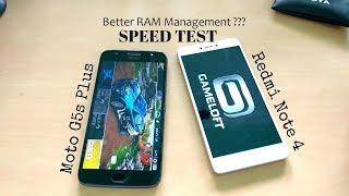 Moto G5s Plus vs Redmi Note 4 Speed and RAM management (test) Hindi